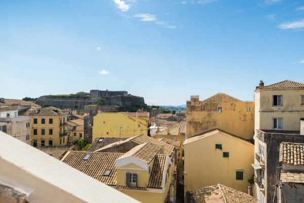 corfu old town apartment to stay for holidays with unique view