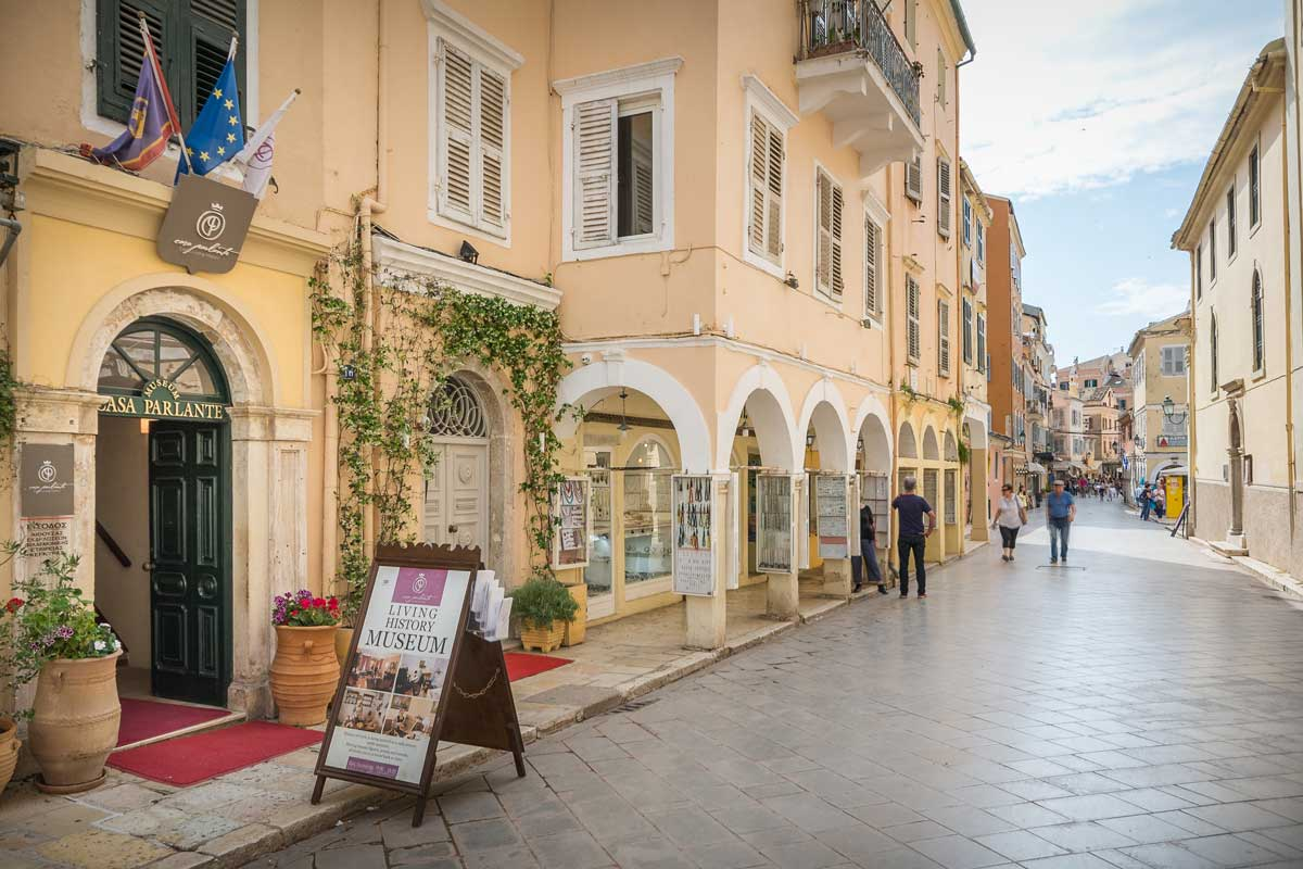 corfu old town apartment map points casa parlante